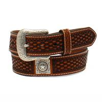 Ariat Men's M&F Western Basketweave Leather Belt