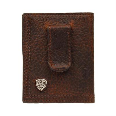 Ariat Men's M & F Western Rowdy Leather Money Clip Wallet