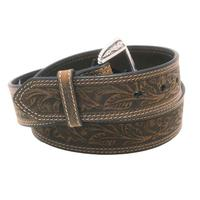 Ariat Men's M&F Western Tooled Leather Belt
