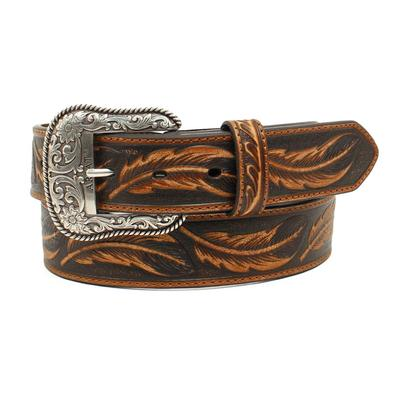 Ariat Men's M&F Western Feather Embossed Belt