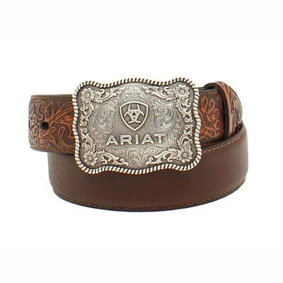 Ariat Boy's M & F Western Embossed Leather Belt