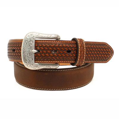 Ariat Men's M & F Western Brown Basketweave Belt