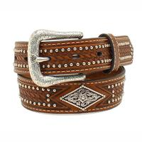 Ariat Kid's M&F Western Basketweave Studded Belt