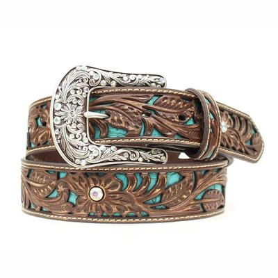 Ariat Women's M & F Western Tooled Turquoise Belt