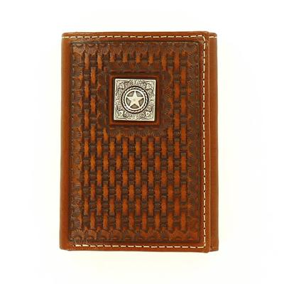Ariat Men's M&F Western Basketweave Texas Star Wallet
