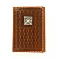Ariat Men's M&F Western Basketweave Texas Star Wallet