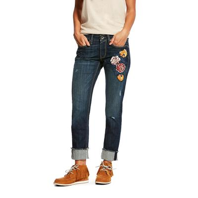 Ariat Women's Boyfriend Bloom Stackable Straight Jean