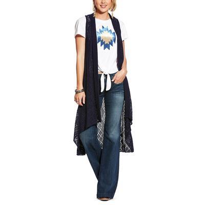 Ariat Women's Navy Maxi Sweater Vest