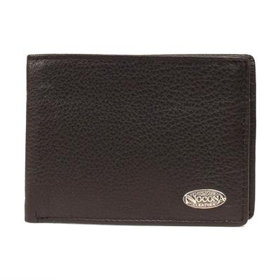 Nocona Men's M&F Western Solid Black Leather Bi-Fold Wallet