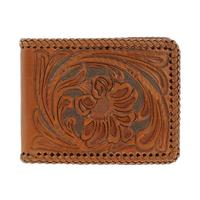 Nocona Men's M&F Western Tooled Leather Wallet