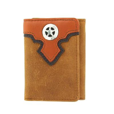 Nocona Men's M&F Western Copper Lone Star Concho Wallet