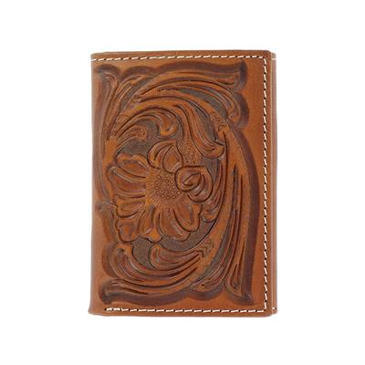 Nocona Men's M&F Western Floral Tooled Wallet