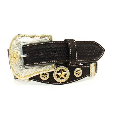 Nocona Men's M&F Western Black Star Concho Belt