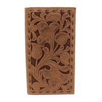 Nocona Men's M&F Western Chocolate Embossed Rodeo Wallet