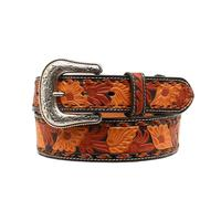 Nocona Men's M&F Western Three Tone Embossed Leather Belt