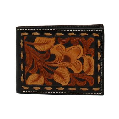 Nocona Men's M&F Western Three Tone Embossed Leather Wallet