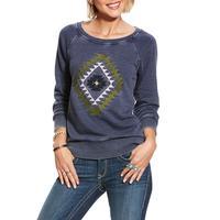 Ariat Women's Burn Out Navy Kimi Sweatshirt
