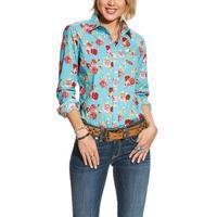 Ariat Women's Rose Print Kirby Stretch Shirt