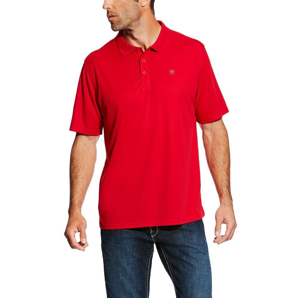 Ariat Mens Crimson Flame Tek Polo Shirt