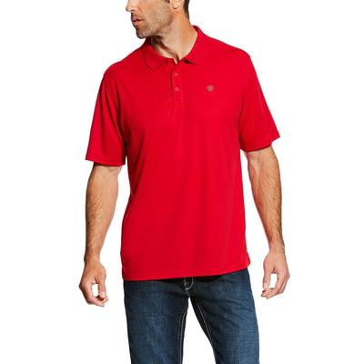 Ariat Men's Crimson Flame Tek Polo Shirt