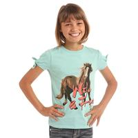 Panhandle Slim Girl's Wild & Free Horse Tee