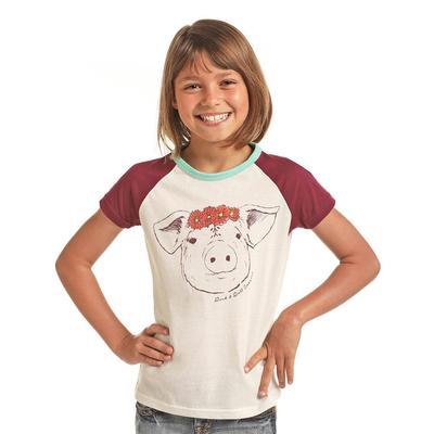 Panhandle Slim Girl's Raglan Pig Tee