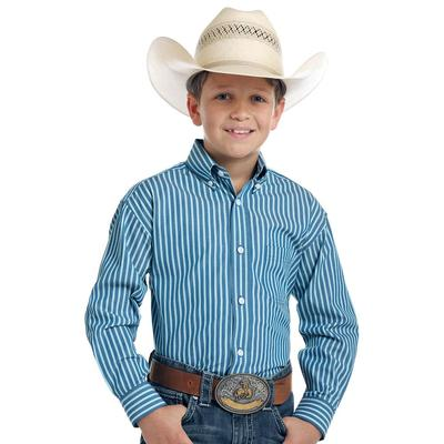 Panhandle Slim Boy's Blue Striped Shirt