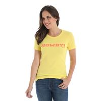 Wrangler Women's Antique Gold Howdy Tee