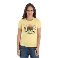 Wrangler Women's Banana Yellow Buffalo Tee