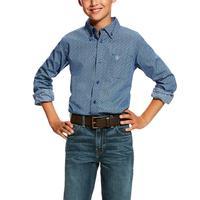 Ariat Boy's True Navy Dullins Print Shirt