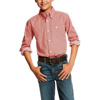 Ariat Boy's Shell Pink Dowers Print Shirt