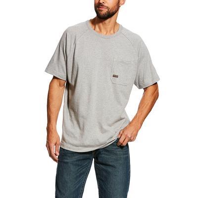 Ariat Men's Heather Grey Rebar Cottonstrong T- Shirt