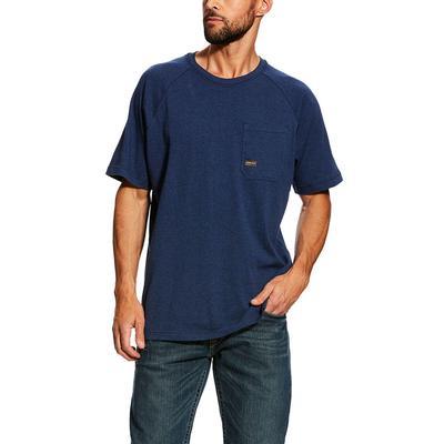 Ariat Men's Heather Navy Rebar Cottonstrong T- Shirt