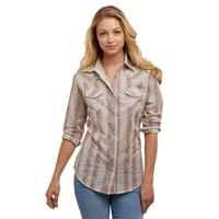 Wrangler Women's Long Sleeve Floral Print Snap Shirt