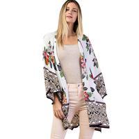 Kori America Women's Border Printed Kimono