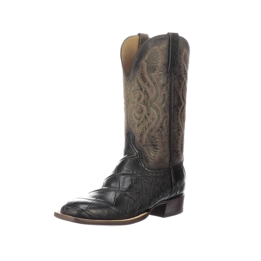 09e2b526887 Lucchese Mens Black Roy Boots
