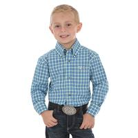 Wrangler Boy's Royal and Emerald 20X Competition Shirt