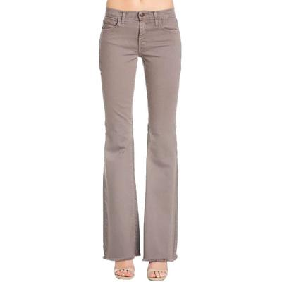 O2 Denim Women's Colored Mid-Rise Flare Jeans