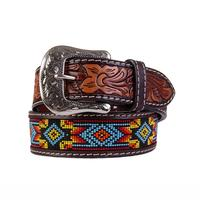 Twisted X Men's Beaded Leather Belt