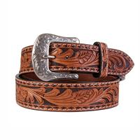 Twisted X Men's Tooled Leather Buckstitch Belt