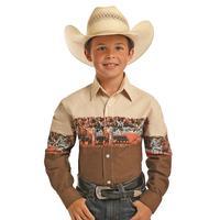 Panhandle Boy's Rodeo Print Snap Shirt