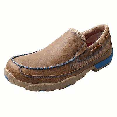 Twisted X Men's Blue Bomber Slip On Driving Moccasins
