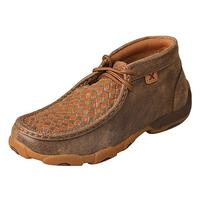 Twisted X Kid's Bomber Tan Weave Driving Moccasins