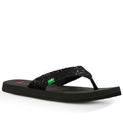 f9e67f541543 Sanuk Girl s Yoga Glitter Flip Flops