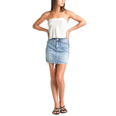 b38d3a7da933 Silver Jeans Women s Fancy Mid Rise Mini Skirt