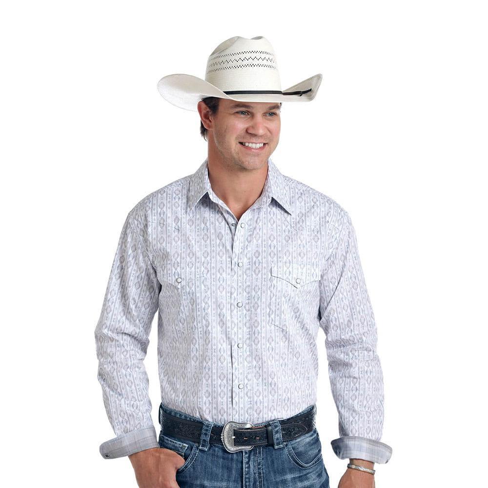 9b87f17a73f Panhandle Slim Men s Long Sleeve Mody Vintage Aztec Print Shirt