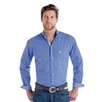 Panhandle Slim Men's Blue Perlova Vintage Ombre Plaid Shirt