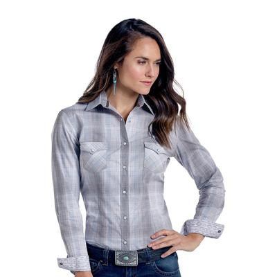 Panhandle Slim Men's Grey Edgemere Antique Plaid Shirt