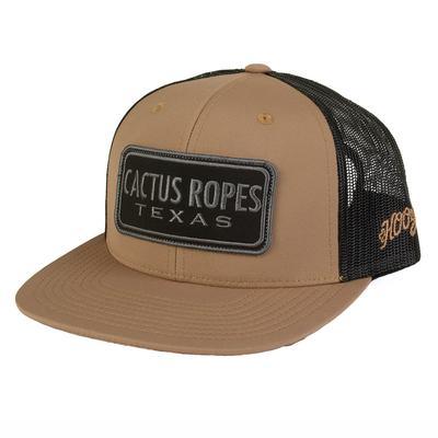 Hooey Men's Brown and Black Cactus Ropes Cap