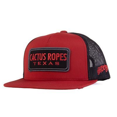 Hooey Men's Orange and Black Cactus Ropes Cap